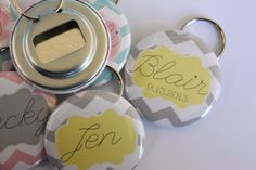 Personalized Bottle Openers/Key Chains by BigYellowDogDesigns on Etsy