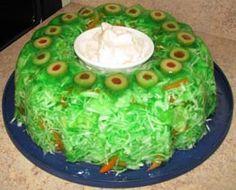 Grandma's Cabbage Lime JELL-O Salad!!