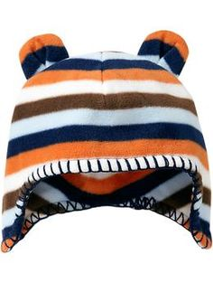 Micro Performance Fleece Bear Hats for Baby | Old Navy