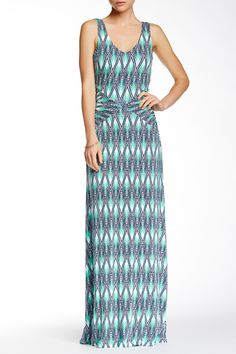 """Maxi Dress by Tart on @HauteLook  - V-neck  - Sleeveless  - Bias-cut bodice  - Slips on over head  - Partially lined  - Approx. 59.5"""" length"""