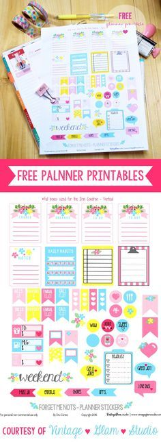 Erin Condren: Gorgeous Free Planner Addict Stickers! - Free Pretty Things For You