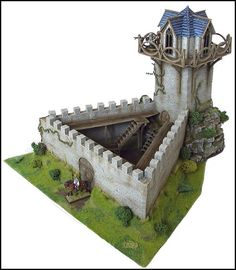 28mm High-Elf Keep for Warhammer Fantasy by Antenociti, via Flickr