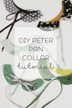 Peter pan collar DIY Sewing Tutorial                                                                                                                                                                                 More