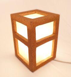 Cork Cube Table Lamp
