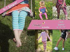 """Nähanleitungen Kind - eBook Kinder-Leggings """"Smari"""" Gr. 62 bis 170 - ein Designerstück von Smalino bei DaWanda"""