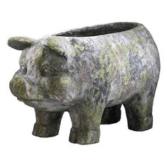 Aged Pig Planter - Leaf Magazine on Joss and Main - I could do this in hypertuffa