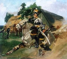 Military Uniforms, Military Life, Horse Art, Poland, Russia, War, Horses, Painting, Death