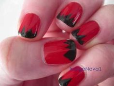 Jagged Tips - Easy Nail Art Tutorial for short or long nails (using tape) - Nail Art for Beginners