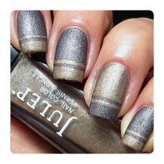 Fan Nail of the Day: Silver and Gold - Julep Blog - Julep Beauty Buzz