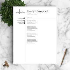 nurse resume template for word pages 1 2 and 3 page resumes included medical resume nurse cv template instant download resume pinterest - Nurse Resumes Templates