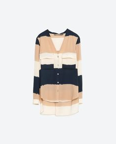 Image 8 of WIDE STRIPED BLOUSE from Zara