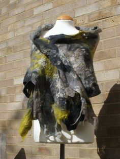 Items similar to Green grey nuno Felted silk wool lagenlook shawl scarf wrap -gray taupe beige cream -Gift for her on Etsy Silk Wool, Kinds Of Clothes, Nuno Felting, Handmade Design, Green And Grey, Scarf Wrap, Taupe, Gifts For Her, Felted Scarf