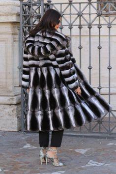 La fourrure manteau de fourrure manteau Chinchilla Fur Coat Fourrure Cincilla PELLICCIA норка
