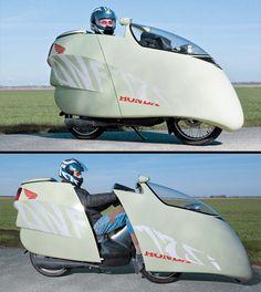 This aerodynamic shell gets this bike 200mpg