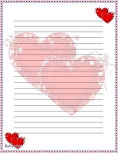 Byhanderi.☆.。.:*,★ :*・∵∵.:*・・:*・.☆ Notebook Paper Printable, Printable Lined Paper, Free Printable Stationery, Stationery Craft, Printable Stickers, Scrapbook Paper, Scrapbooking, Journal Paper, Paper Frames