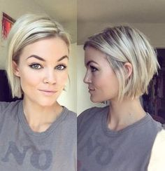 Pinned for cut &colour; Blonde Chin-Length Bob