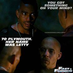 """Vin Diesel Stills @vindieselgallery - """"Her name was Letty""""Yooying"""