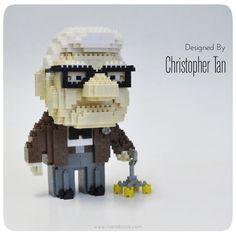 nanoblock Carl from Pixar's UP
