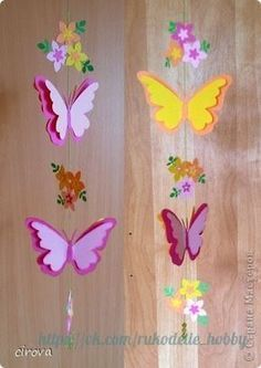 Ideas para el hogar: Móvil paso a paso diseño mariposa