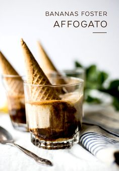 This easy Bananas Foster Affogato recipe gets an extra kick of flavor thanks to the addition of a shot of espresso. Start by blending frozen bananas in a food processor until the achieve a smooth, creamy consistency. Then, top with rich caramel sauce and your favorite Nespresso Grand Cru. It's as simple as that.