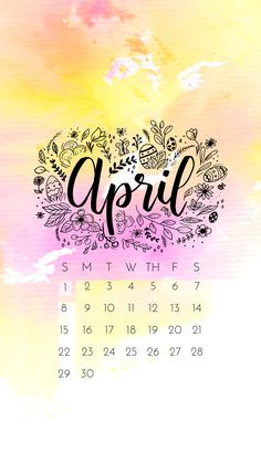 April 2018 iPhone Wallpaper Calendar