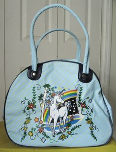Unicorn overnight bag. Why don't stores sell more things like this?