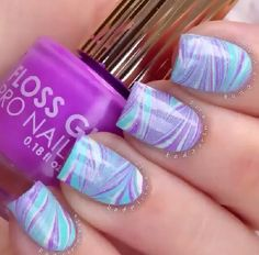 Water marble nails !!!!