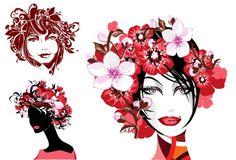 Beautiful hair design vector graphics Vector Graphics, Vector Free, Hair Designs, Beautiful, Abstract, Hair Styles, Creative, Anime, Fashion Design