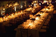 Lights! Also notice the layout of the tables, perfect for the tent and number of people we are considering. Intimate.