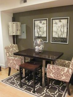 Dining rooms on pinterest small dining rooms dining for Eating tables for small spaces