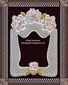 "Handcrafted ""Argentinian Rose"" - Parchment Photo Frame"
