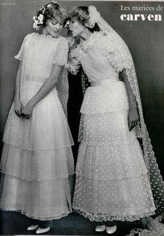 CARVEN wedding dresses 1977