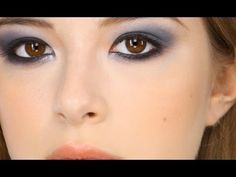 Lisa Eldridge - Navy Smokey Eye Make-up Look. For more tips and a list of products visit http://www.lisaeldridge.com/video/21069/navy-blue-smokey-eye/ #MakeUp #Beauty #Tutorial