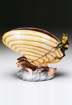 エミール・ガレ〈蛙と魚〉