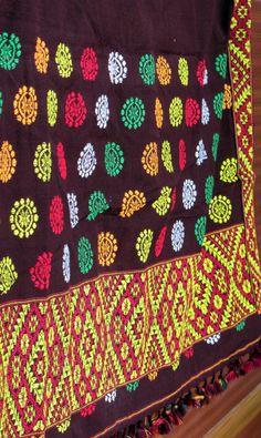 Mekhla chadar piece hand woven from Majuli, Assam.