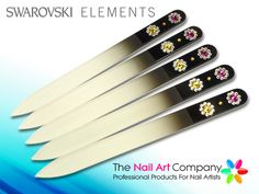 Luxury Gl Nail File Bohemian Crystal Comet Design With Jet Black Coloured Body Decorated 12 Genuine Swarovski Crystals