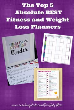 The Top 5 Absolute BEST Fitness and Weight Loss Planners. All printable downloads so you can start immediately. Most are totally free! Get organized and get healthy, starting now! Includes tips for weight loss, organizing for fitness, planner for fitness, planner for weight loss, and more.