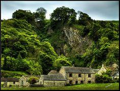 Devils Arse Cavern and Castleton Village, Peak District, Derbyshire
