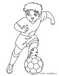 Soccer player dribbling coloring page. Go green and color online this Soccer player dribbling coloring page. You can also print out and color this . Sports Coloring Pages, Colouring Pages, Coloring Sheets, Adult Coloring, Sport Craft, Collage Making, Free Printable Coloring Pages, Soccer Players, Pre School