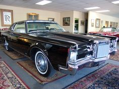 1969 Lincoln Continental Mark III - MAGNIFICENT ORIGINAL CONDITION! ONLY 9,755 ORIGINAL MILES! DEEP BLACK EXTERIOR WITH GORGEOUS WHITE LEATHER INTERIOR AND BLACK VINYL ROOF! 460 CUBIC INCH V-8/365 HORSEPOWER! FIRST YEAR FOR THE 460! FIRST...