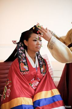 Korean Ceremony! Isn't the traditional attire fabulous?