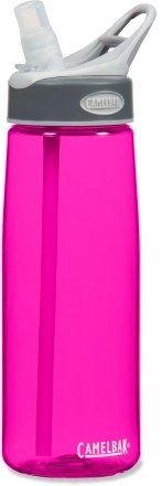 Hot pink Camelbac water bottle.
