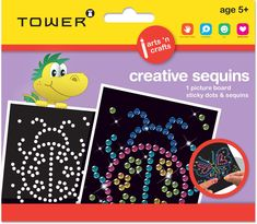 A child's creativity will sparkle, shimmer and shine with this dazzling Creative Sequins range. Shimmer N Shine, Sparkle, Office Organisation, Picture Boards, Creativity, Arts And Crafts, Tower, Dots, Sequins