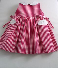 Lipstick Pink and White Gingham Sleeveless Dress