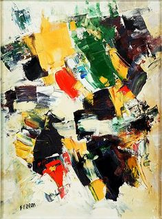 Marcelle Ferron (French-Canadian, 1924-2001) Untitled Abstract. Lot 163-6068