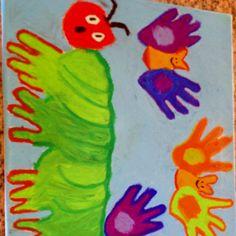 Preschool class hand art