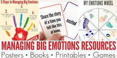 Managing big emotions is hard, whether you are four or six or forty six! Helping children learn to regulate and manage their emotions is an ongoing process and this collection of resources and activity suggestions is invaluable for both parents and teachers.
