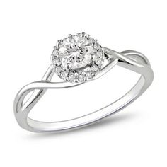 0.40 CT. T.W. Diamond Frame Engagement Ring in 10K White Gold