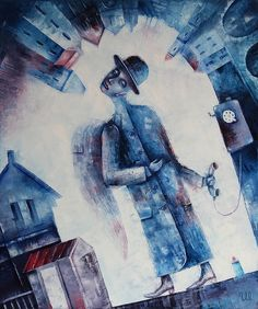 Street Angel by Eugene Ivanov, oil on canvas, 50 X 60 cm, $1000. #eugeneivanov #@eugene_1_ivanov #modern #original #oil #watercolor #painting #sale #art_for_sale #original_art_for_sale #modern_art_for_sale #canvas_art_for_sale #art_for_sale_artworks #art_for_sale_water_colors #art_for_sale_artist #art_for_sale_eugene_ivanov