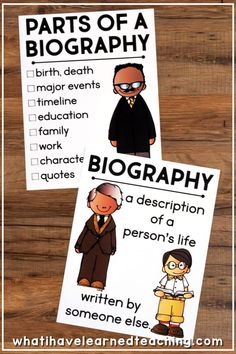 A great way to get and graders thinking about writing biographies and how to write them. The worksheet incorporates writing and social studies. It could be an individual writing assignment. Writing A Biography, Biography Project, Writing A Book, Writing Help, Teaching Social Studies, Teaching Writing, 2nd Grade Social Studies Projects, Social Studies For Kids, Clarks